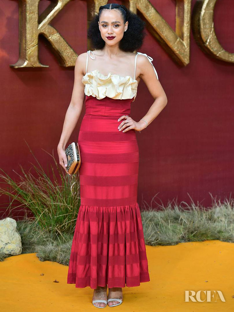 Nathalie Emmanuel In Hellessy - 'The Lion King' London Premiere