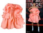 Priah Ferguson's Marc Jacobs Rose Ruffled Dress