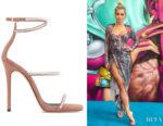 Rita Ora's Giuseppe Zanotti Kanda Sparkle Sandals