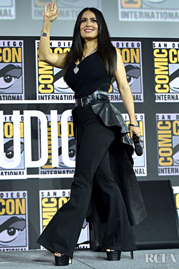 Salma Hayek Was Blacked Out For The 'Eternals' Comic-Con Panel