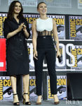 Scarlett Johansson Rocks A Tattoo Revealing Jumpsuit At Comic-Con