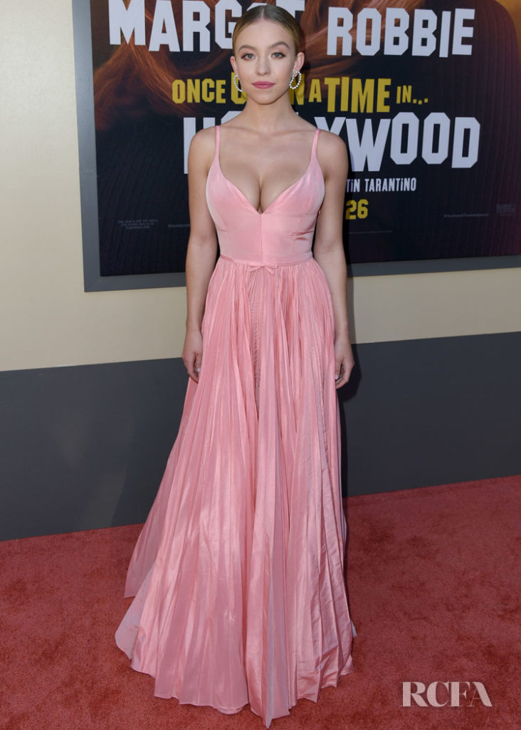 Sydney Sweeney wearing Miu Miu   'Once Upon a Time in Hollywood' LA Premiere
