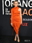 Taylor Schilling Fittingly Wore Orange For The 'Orange Is The New Black' Final Season World Premiere