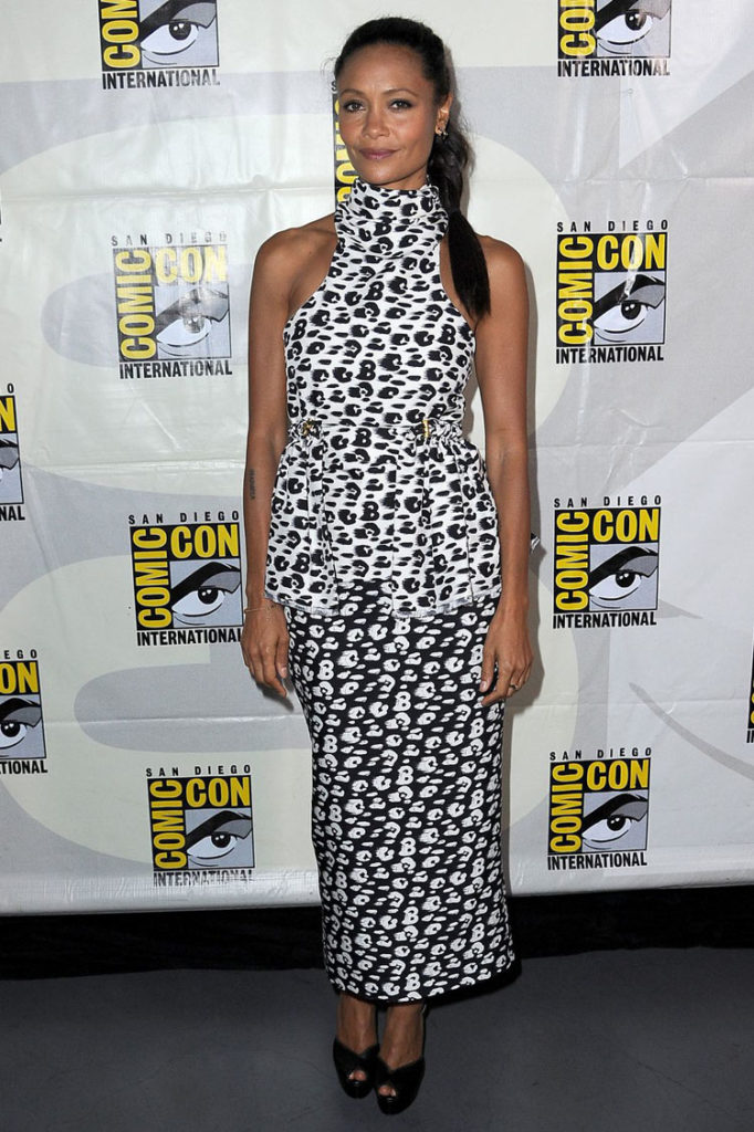 Thandie Newton In Brandon Maxwell - Comic Con Westworld III