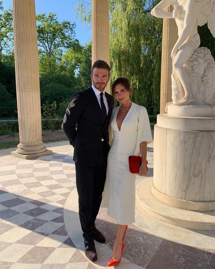 Victoria Beckham Wears Bridal White To Celebrate Her 20th Wedding Anniversary