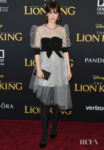 Zooey Deschanel's Punchy Polka Dot Outing For 'The Lion King' World Premiere