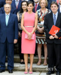 Queen Letizia of Spain's Matchy Pink Look For The Royal Monastery of San Lorenzo de El Escorial