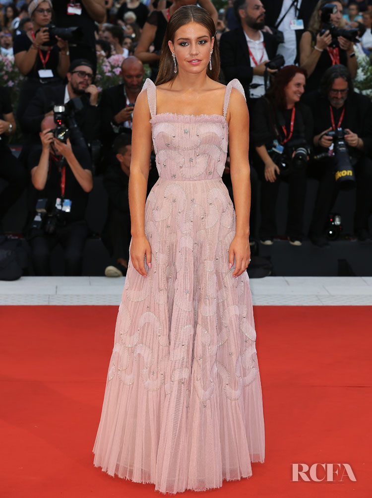 Adele Exarchopoulos In Christian Dior Haute Couture - 'Joker' Venice Film Festival Premiere