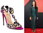 Adriana Lima's Christian Louboutin Parsemis High-Heel Sandals