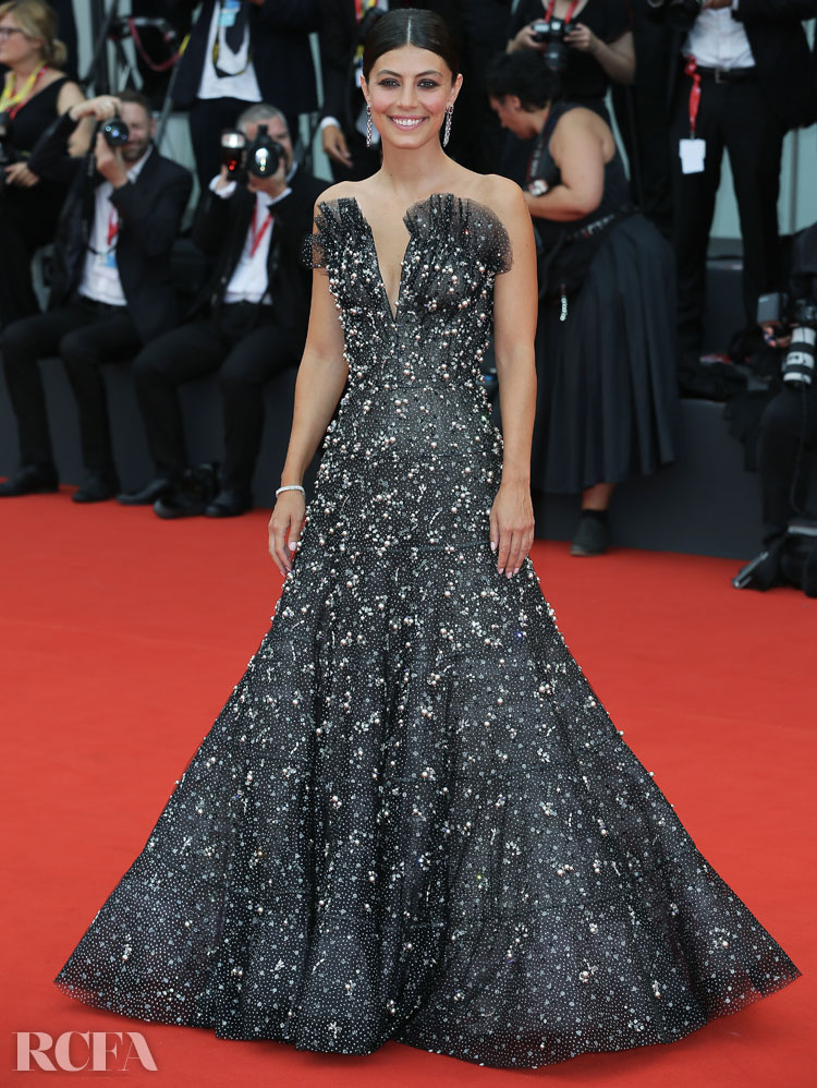 Alessandra Mastronardi In Armani Prive - 'La Vérité' Venice Film Festival Premiere