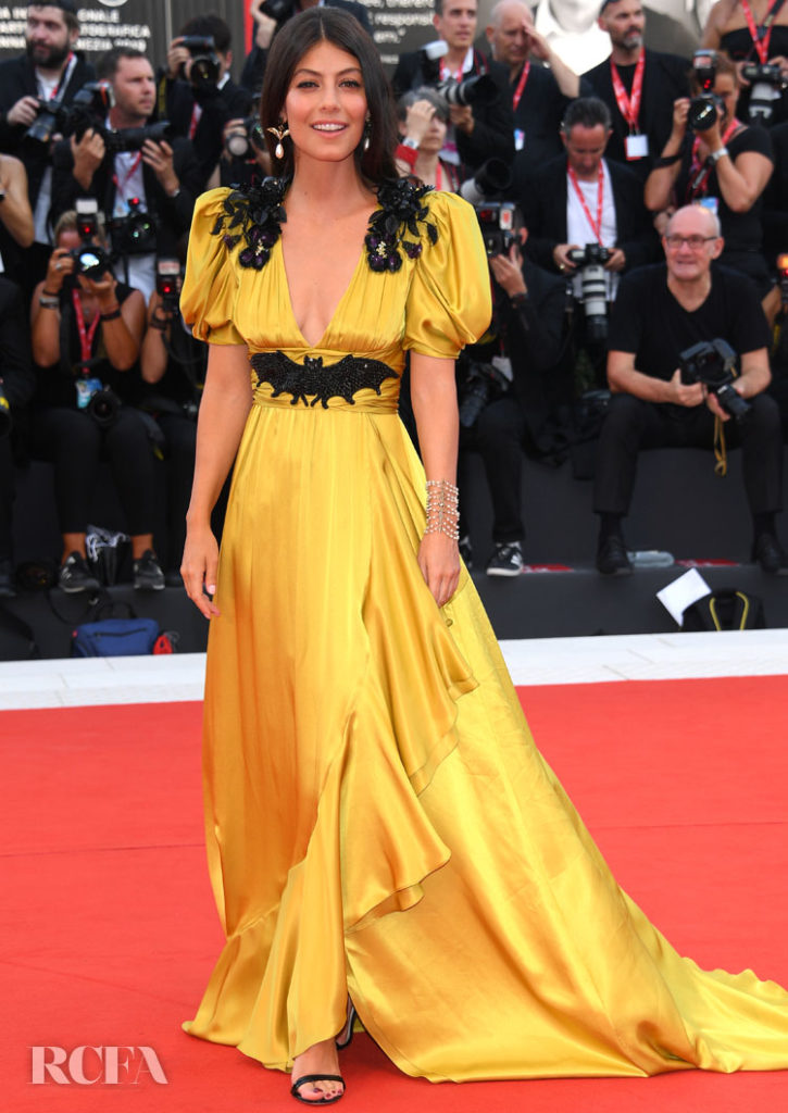 Alessandra Mastronardi In Gucci -  'Marriage Story' 2019 Venice Film Festival Premiere