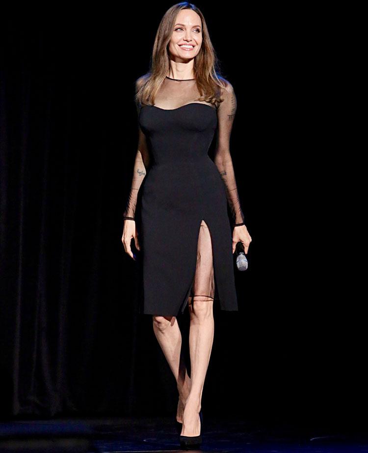 Angelina Jolie's Black Magic For Disney's D23 Expo 2019 For 'Maleficent: Mistress of Evil'