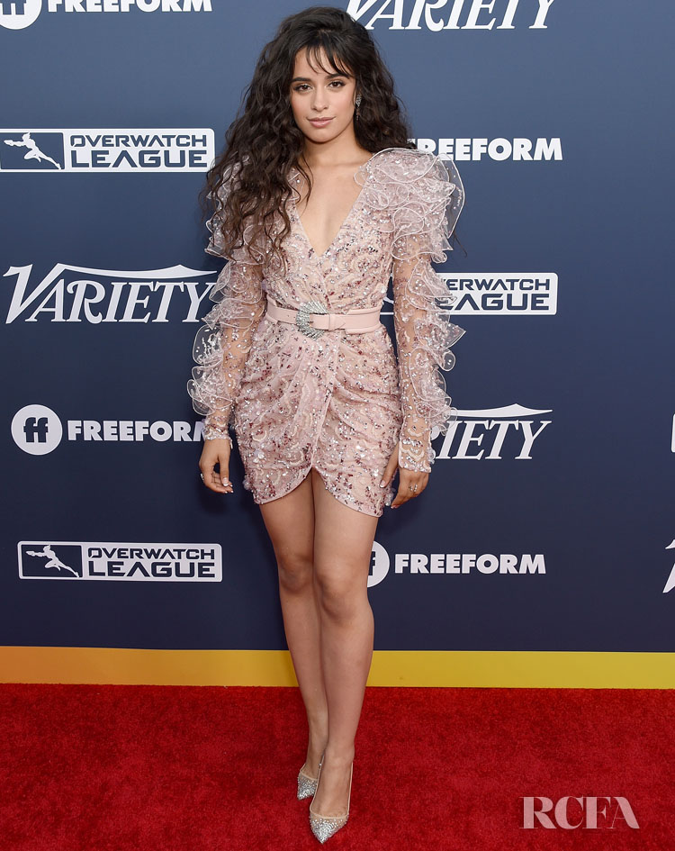 Camila Cabello's Iced Pink Zuhair Murad Couture Mini For Variety's 2019 Power of Young Hollywood party