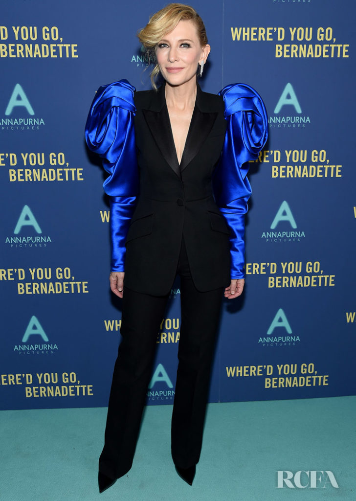 Cate Blanchett Dons The New Power Suit For 'Where'd You Go, Bernadette' New York Screening