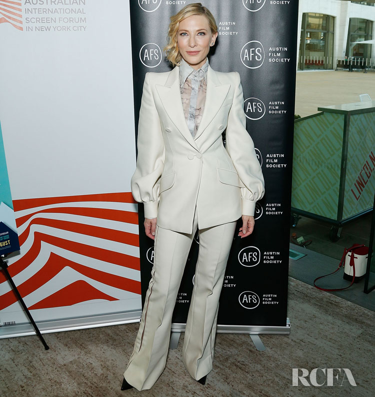 Cate Blanchett Returns To The Red Capet For 'Where'd You Go, Bernadette' As The Queen Of Suiting