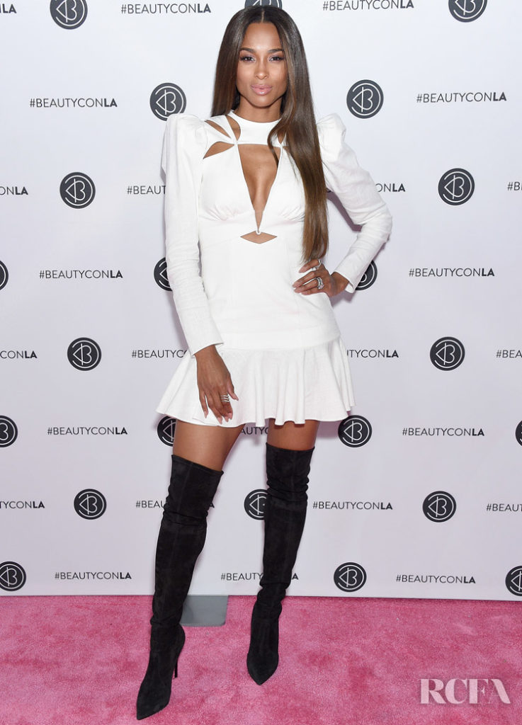 Ciara LWD & Black Boots Combo For Beautycon Los Angeles