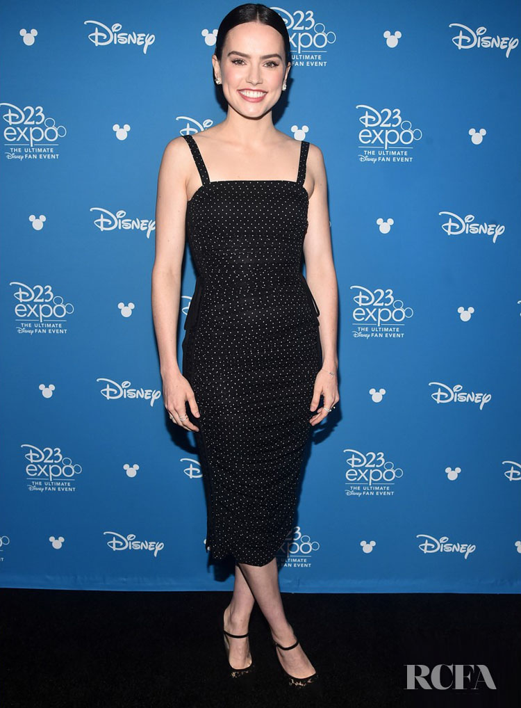 Daisy Ridley Goes Dotted For Dolce & Gabbana At The D23 Expo