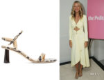 Gwyneth Paltrow's BY FAR  Magnolia Snake-Effect Sandals