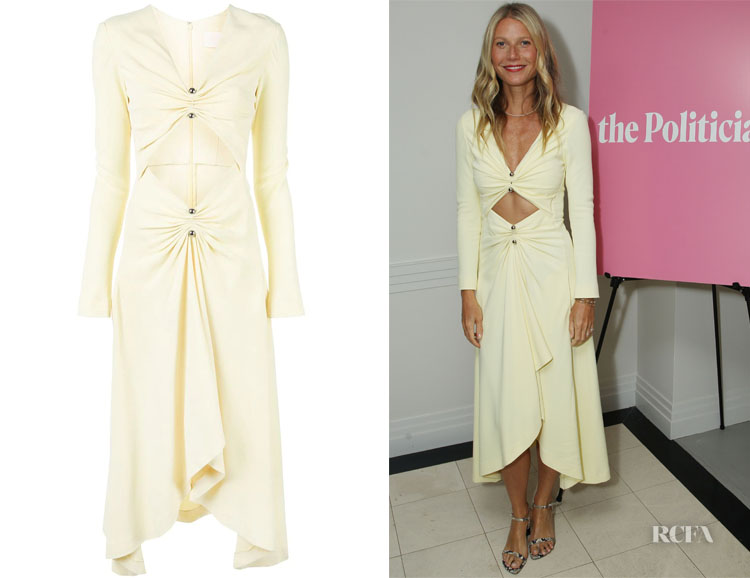 Gwyneth Paltrow's Dion Lee Ruched Detail Dress