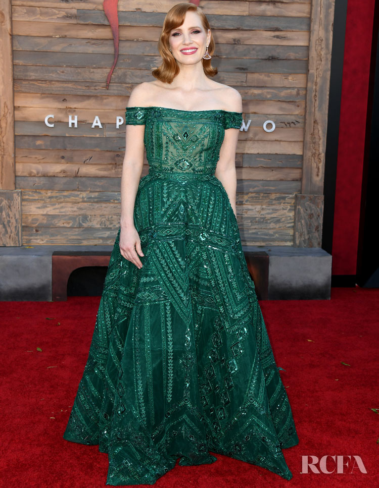 Jessica Chastain In Zuhair Murad Couture - LA Premiere For 'It Chapter Two'