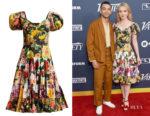 Katherine Newton's Dolce & Gabbana Floral-Print Tiered Dress