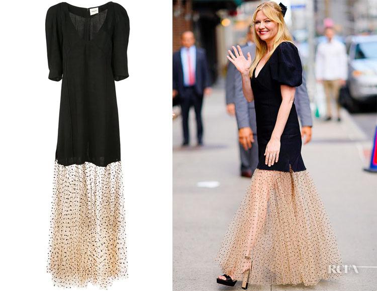 Kirsten Dunst's Khaite Dorothy Dress