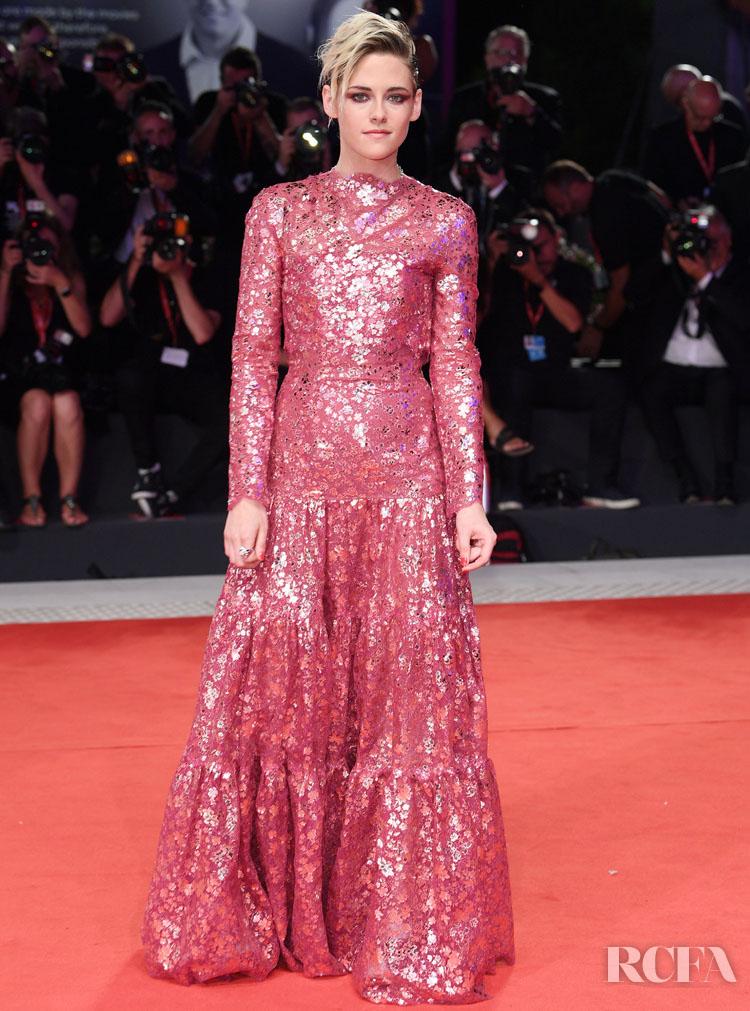 Kristen Stewart In Chanel Haute Couture - 'Seberg' Venice Film Festival Premiere