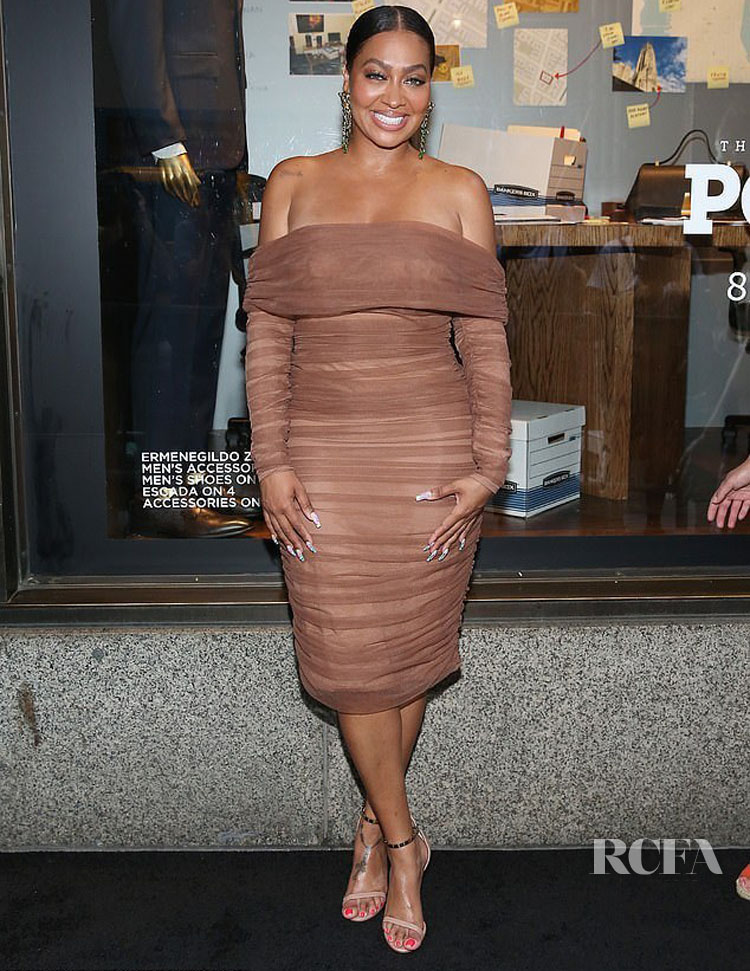 La La Anthony Was Look Haute In House of CB For Saks Fifth Avenue Window Celebration Of The Final Season Of 'Power'
