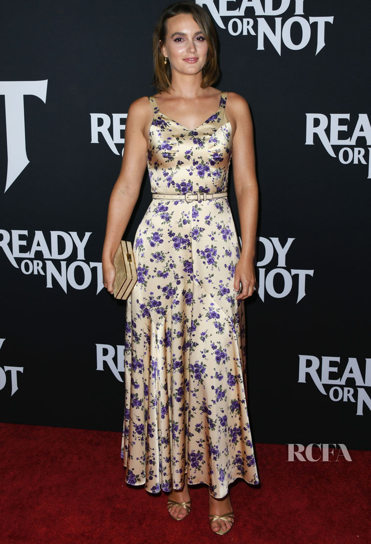 Leighton Meester Returns To The Spotlight In A Floral Delight For The 'Ready Or Not' LA Screening
