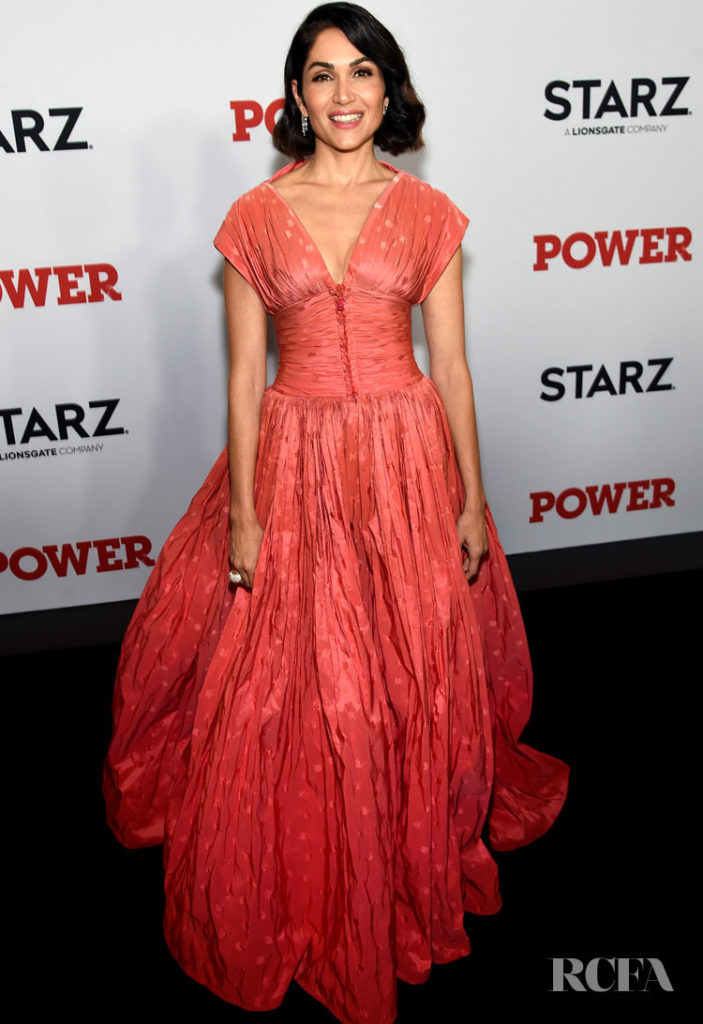 Lela Loren In Zac Posen - 'Power' New York Premiere
