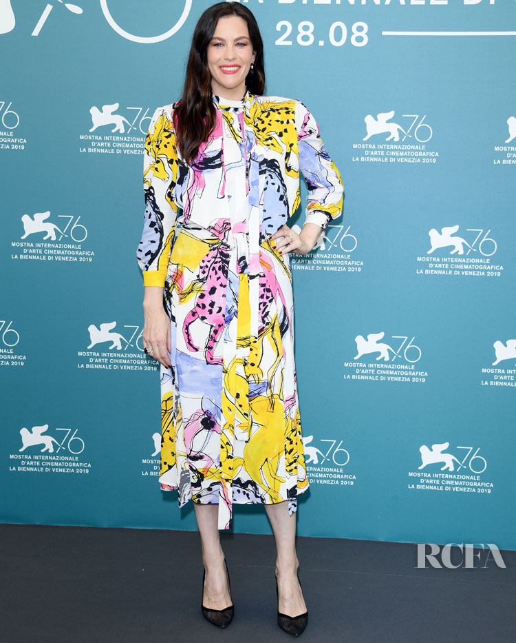 Liv Tyler In Stella McCartney - 'Ad Astra' Venice Film Festival Photocall