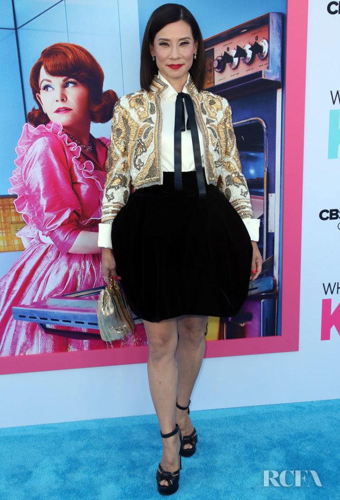 Lucy Liu's Matador 'Traje de luces' For The  'Why Women Kill' LA Premiere