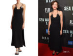 Maggie Gyllenhaal's  3.1 Phillip Lim Strappy Crepe Midi Dress