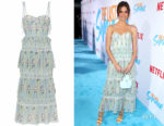 Maia Mitchell's Self-Portrait Chiffon Tiered Floral Dress