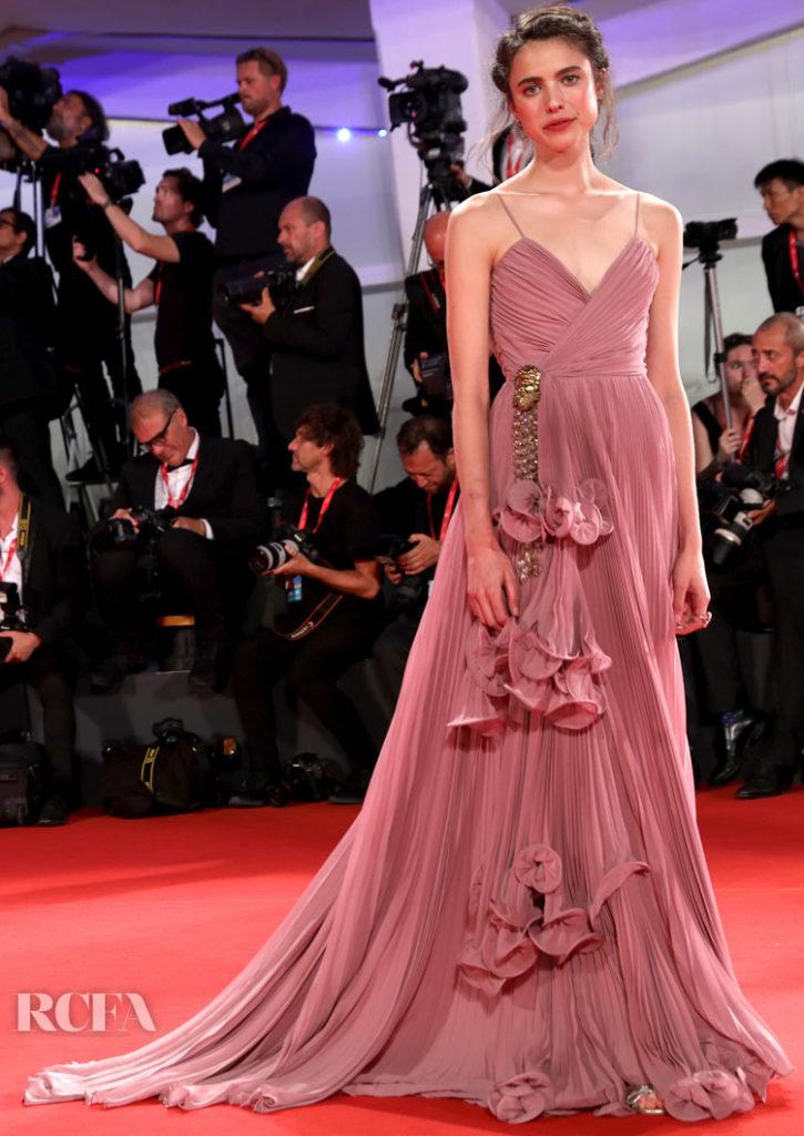 Margaret Qualley In Gucci – 'Seberg' Venice Film Festival Premiere