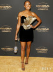 Melanie Liburd Was Glowing In Stellaire For The NBC And Universal EMMY Nominee Celebration