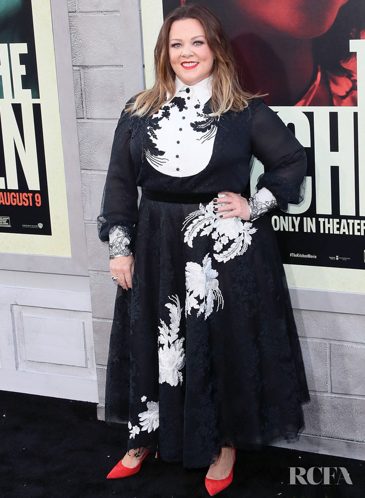 Melissa McCarthy Wears Marchesa For 'The Kitchen' LA Premiere