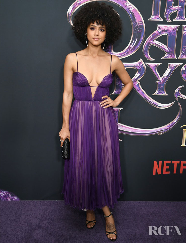 Nathalie Emmanuel Was Vivid In Violet For 'The Dark Crystal: Age of Resistance' New York Premiere
