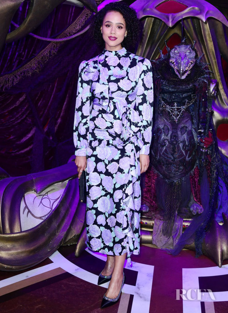 Nathalie Emmanuel's Fall Florals For 'The Dark Crystal: Age of Resistance' London Premiere
