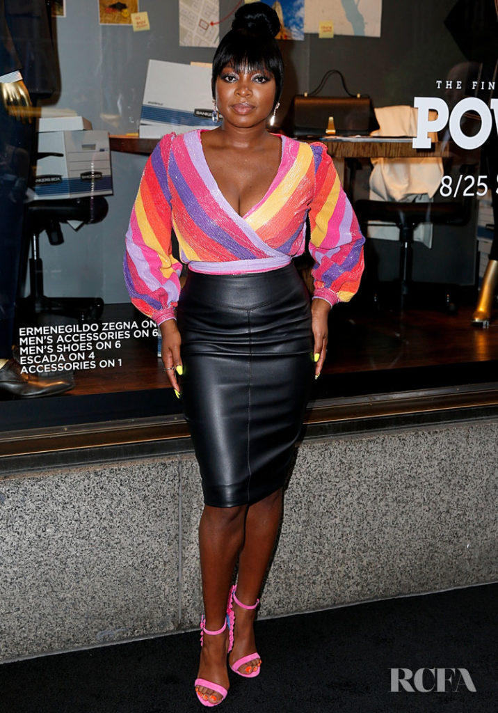 Naturi Naughton Was Rainbow Bright For Saks Fifth Avenue Window Celebration Of The Final Season Of 'Power'