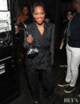 Regina King Rocks Pinstripes For Black Girls Rock 2019
