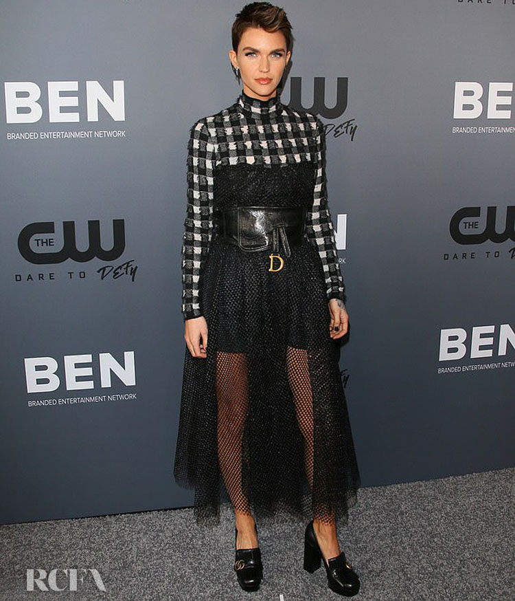 Ruby Rose In Christian Dior - The CW's Summer TCA All-Star Party