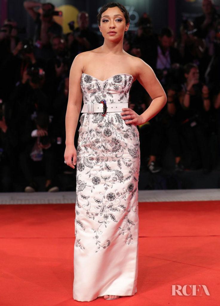 Ruth Negga In Louis Vuitton -  'Ad Astra' Venice Film Festival Premiere