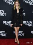 Samara Weaving Smolders In Versace For The 'Ready Or Not' LA Screening
