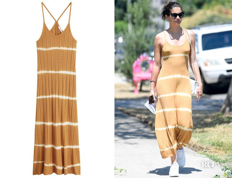 Sara Sampaio's Mango Tie-Dye Dress