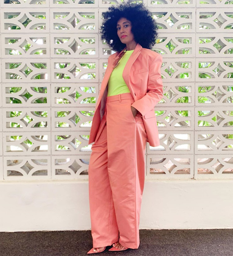 Tracee Ellis Ross' Pink Power Suit For The Gram