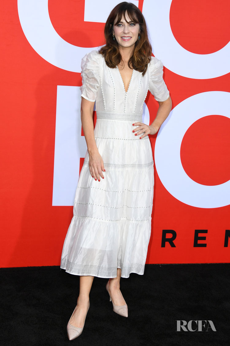 Zooey Deschanel Wears Ulla Johnson For The 'Good Boys' LA Premiere