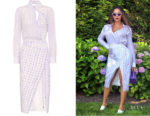 Beyonce Knowles' Altuzarra Constantina Wrap-Effect Dress