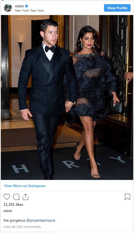 Priyanka Chopra Rocks A LB-Feathered-D For Joe Jonas' 30th Birthday Party