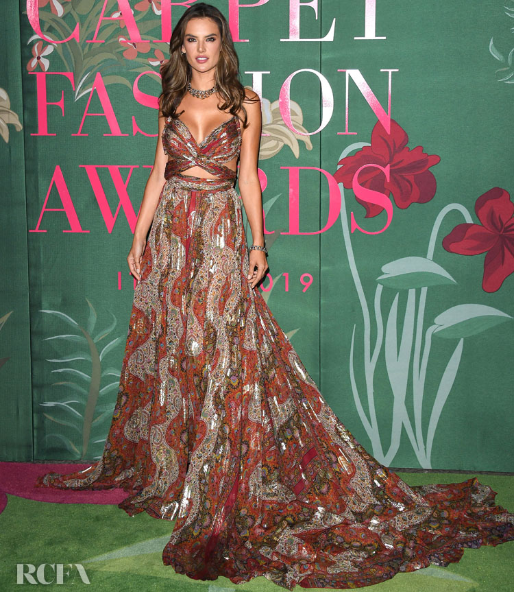 Alessandra Ambrosio in Etro - Green Carpet Fashion Awards Italia 2019